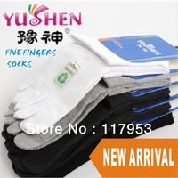 Wholesale 5Pairs/lot Colors Men's Cotton Five Fingers Toe Socks 5 fingers toe socks Stockings Free Ship
