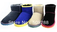 Free Shipping !winter women snow boots   bottom of the color Low cylinder Short boots