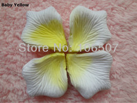 10 packs(1440pcs) Baby yellow Non-woven fabric  Artificial Rose Flower Petal PET-BYE Wedding party favor decoration hot selling
