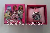 wholesale 5pcs/lot Monster High Watch with boxes Christmas gift high qulaity for kids