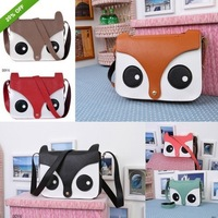 Free Shipping Shoulder Bag Messenger School Tote Owl Fox Leather Purse Wallet Womens Handbag