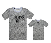 14 Style Fashion LastKings Letter Star Flower Leopard Graphic Summer O-Neck Short Clothing For Men's T Shirts