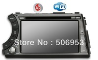 Free sipping for 7 inch SsangYong Actyon sports with steering wheel control+PIP+ipod+phonebook+free map+3G+ wifi dongle