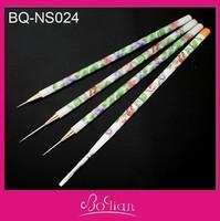 10 Sets New Flower Printing Wood UV Gel Nail Art Liner Striper Brush Gel Nail Kit 4 pcs/set