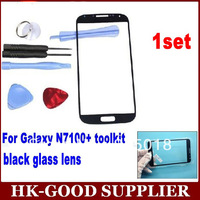 1set black note 2 outer glass for samsung galaxy noteii lcd touch screen digitizer front glass lens n7100 free tools YL5137
