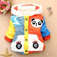 Free Shipping(wholesale,4pcs/lot)1-3years,KD-0023-66,Pentagram panda footprints children outerwear wool with (red yellow blue )