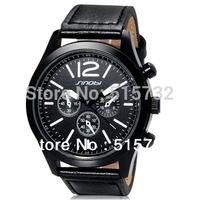SINOBI 9472 Unisex Stylish Quartz Analog Watch with Leather Strap watches men fashion