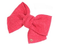 Korean version of the new winter spring horsetail hair jewelry bow plush fabric edge clip hairpin top folder