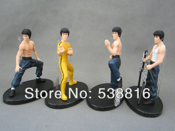 EMS Free Shipping Great Collection Kung Fu Master Bruce Lee dolls Collectors Edition 30sets(1set=4pcs) Hot Sale