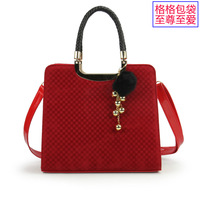 Free shipping 2013 fashion handbags autumn and winter leopard print women's handbag red bridal bag portable messenger bag PU bag