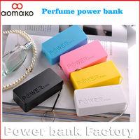 10pcs/lot ! Sweden shippingfree L310 perfume power bank 5200mah portable external battery charger emergency power bank