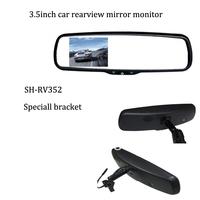 3.5-inch special reversing rearview mirror monitor car Monitor Reverse Mirror suit  for HYUNDAI SOLARIS  2CH AV in