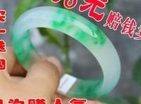 green jade bracelet cuff bangle(2pc Pair real Chinese