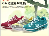 2013 new, winter, ladies, leather, apartments, increased weight loss, fitness shoes, cushion, sport shoes, free shipping
