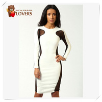 Free shipping Sexy  Top and Side Bodycon Dress unique 2013 new fasion dresses free Shipping