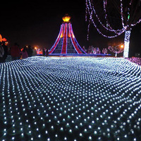 4 meters *4 meters 620 lamps Led fishing net lights network-well led lawn lamp