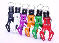 Free shipping 5/pc  Tiger Hook Tool With Ring Carabiner Clip Hiking Climbing Tool Key hook wholesale