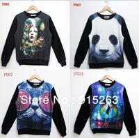 Women/Men Skeleton Print Hoodie 3D Long Sleeve T Shirt Galaxy Space Sweater Pullover Sweatshirts Tops S/M/L/XL