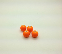 Free Shipping  900pcs/bag  Orange/Sun 10mm  Perle satin Bead Fashion Jewelry Lucite Satin shamballa Acrylic beads