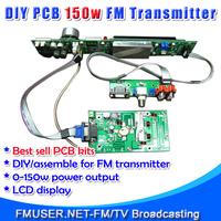 FMUSER FSN-150K 150W FM Broadcast Transmitter Assemble PCB DIY Kit Amp+Control+LCD Display