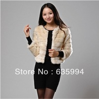 free shipping new 2013 fur coat thickening wool slim double breasted wool coat cashmere wool jacket coat women