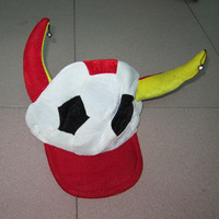 5 pcs/lot Fabric supplies ball decoration masquerade hat football bell hat