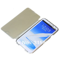 Cheap Flip Transparent Front and back cover Soft TPU case for galaxy note 3 DHL free shipping