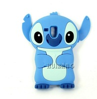 Wholesale 3D Cute Cartoon Stitch Silicone Mobile Phone Cases Cover For Samsung Galaxy S Duos S7562 S6102 S3 Mini I8190 Defender