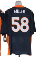 2013 New Arrival!!!American Football Elite Jersey #58 Von Miller Blue Elite Jersey Men's Size 40-56 All Stitched(Sewn on)
