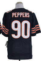 Cheap Wholesale Authentic Jersey #90 Julius Peppers Dark Blue Men's American Football Elite Jerseys size 40-56 All Stitched