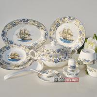 free shipping Avowedly 30pcs dinnerware set bone china tableware rice bowl set