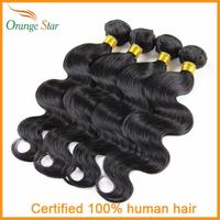 Wholesale Brazilian Body wave 5pcs/Lot human hair weft Brazilian remy hair weave bundles,Orangestar hair,no shedding no tangle