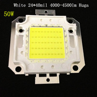 50W LED Integrated High Power Lamp Beads White/Warm White 1500mA 32-34V 4000-4500LM 24*40mil Taiwan Huga Chip Free shipping