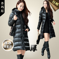 2013 winter medium-long down coat female ultra long paragraph down coat lengthen thickening slim