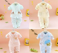 Baby thermal underwear sets boy and girl quilted suit newborn baby clothes cotton autumn and winter models