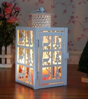hollow out Christmas lamp, wrought iron candlestick storm lantern decorations, Christmas gift/decorations,candlestick