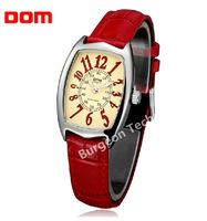 Luxury brand DOM ladies quartz retro leather watch waterproof luminous student casual fashion mechanical watches for women