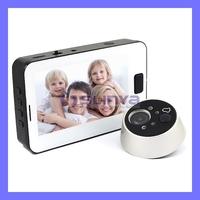 "3.5"" TFT LCD Screen Door Camera Peephole Viewer IR Night Vision Photo Taking"