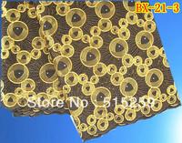 Coffee Colour African Big Cotton Lace Textile