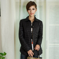 Winter new arrival slim down shirt outerwear thin liner down coat female
