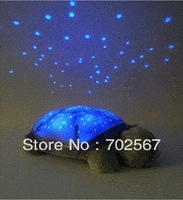 Plush toys tortoise lamp, the baby sleep the music box of partners, children most like turtle lights Free shipping