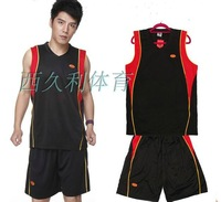 Men basketball clothes Men black set jersey boys basketball training service