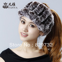 Free shipping 2014 new winter hat for women fashion rex rabbit hair fur hat visor winter cap
