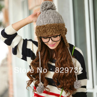 Free shipping 2013 winter hats for women Knitted hat women's winter ear protector cap knitted hat
