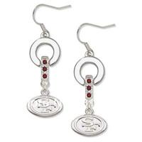 Free shipping 20pairs San Francisco 49ers earrings(E102834)