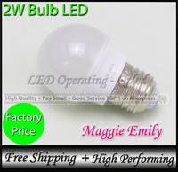 Hot-sales E27 led lights bulb 2w SMD leds chips CE&RoHS led bulb light free shipping