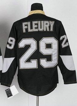 Men's Hockey Jersey #29 Fleury Black Jerseys All Stitched Men's Size 48-56 Available