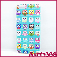 2013 New Fashion Blue Owl And More Bird Hard Rubber Case Cover Skin For Apple For Iphone5c Case