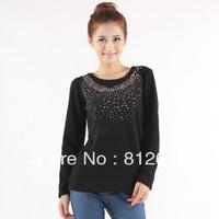 hot sale cheap fleece slim shirts for women 2013 ladies casual polo t shirt