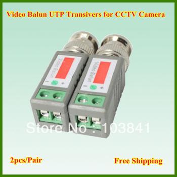 Freeshipping Wholesale 20pcs/lot CCTV Video Balun passive Transceivers Connector UTP Balun BNC Cat5 CCTV UTP Video Balun